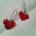 Kolczyki serca - kolczyki czerwone serca