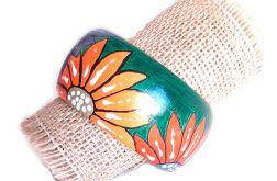 4539 ręcznie malowana bransoletka boho