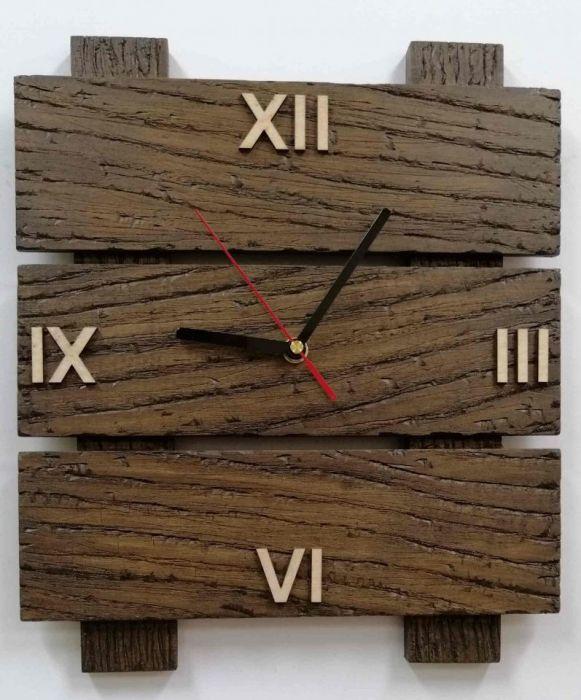 Zegar ścienny drewniany tablica c. rzymskie - Zegar drewniany tablica
