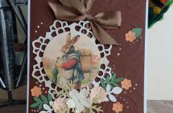 Wielkanocna kartka z zającem