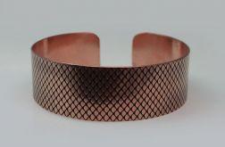 Rybia łuska - miedziana bransoleta 190814-01