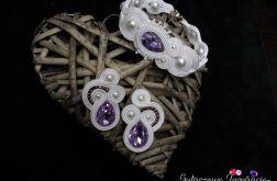 Fioletowy komplet ślubny sutasz