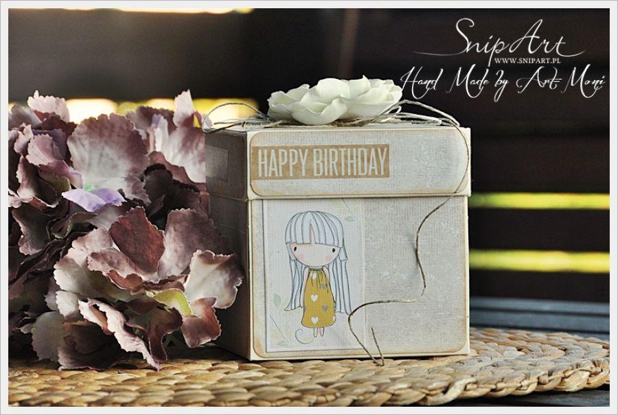 Urodzinowy exploding box dla dziecka