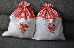 Lniano-bawełniany worek na bieliznę lub drobiazgi