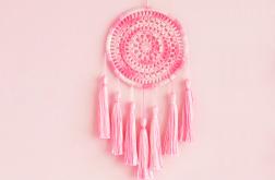 szydełkowy łapacz snów różowy