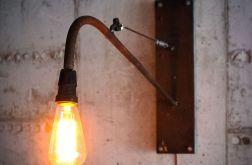 Lampa Ścienna, wisząca, metalowa z Żarówką Edisona