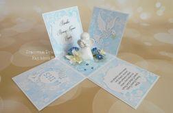 Exploding box z aniołkiem niebieski #3