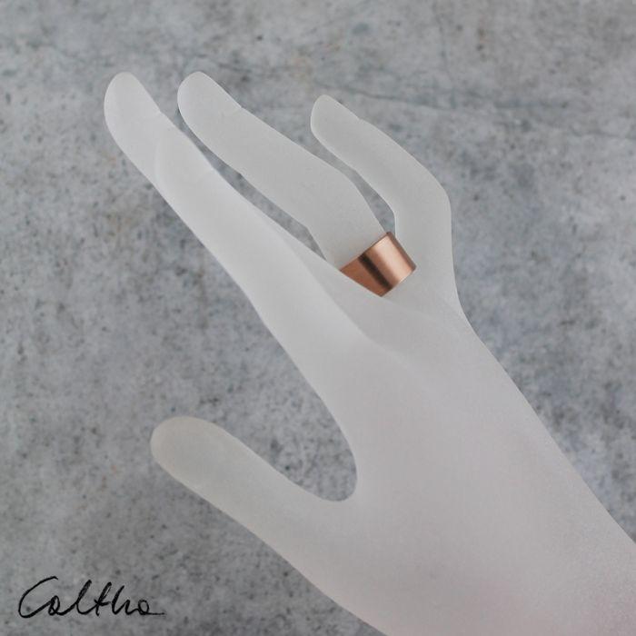 Gładki - miedziany pierścionek 190608-02
