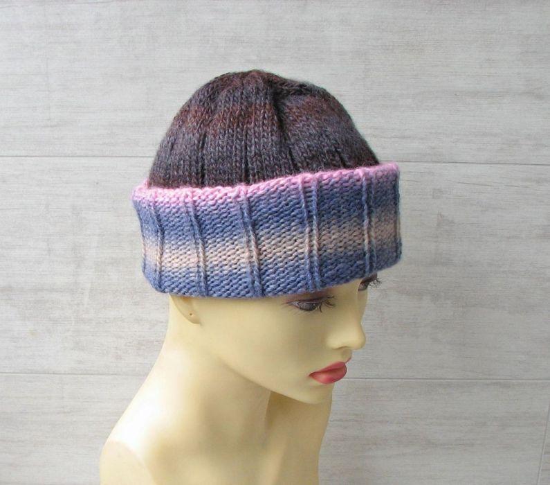 Lekka zimowa czapka zimowa kolorowa. - nietuzinkowa czapka