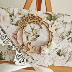 Kartka ślubna kopertówka róże