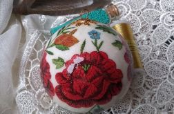 Bombka Ludowe Kwiaty 9cm