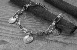 Bransoletka srebrna 925 personalizowana