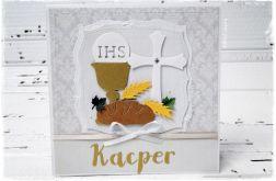 Kartka komunijna z imieniem Kacper