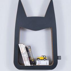 Półka na książki zabawki HERO | czarny