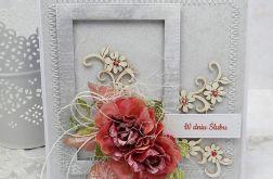 Z ramką na ślub - kartka z pudełkiem