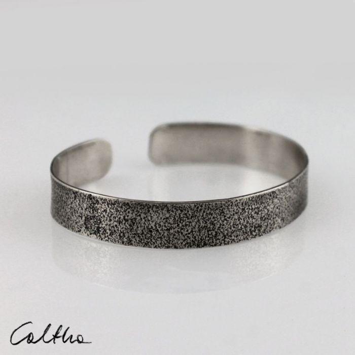 Piasek - metalowa bransoleta 190804-03 - Srebrna bransoleta