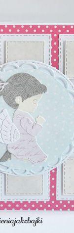 Kartka na Komunię Chrzest dla dziewczynki 2