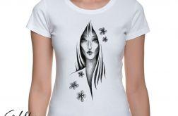Kwiaty - t-shirt damski - różne kolory