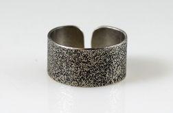 Srebrny pierścionek - piasek II