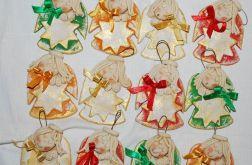 12 gwiazdek z dedykacją - aniołki - ozdoba, prezenty dla gości