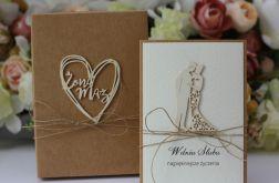 Stylowa kartka ślubna 3