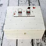 pudełko na karty ślubne z Parą Młodą