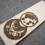 zakładka drewniana z matrioszką
