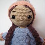 Szydełkowa lalka Tosia dla dziewczynki
