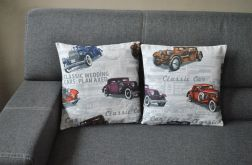 Poszewka dekoracyjna - stare auta