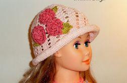 kapelusz wiosenny różowy