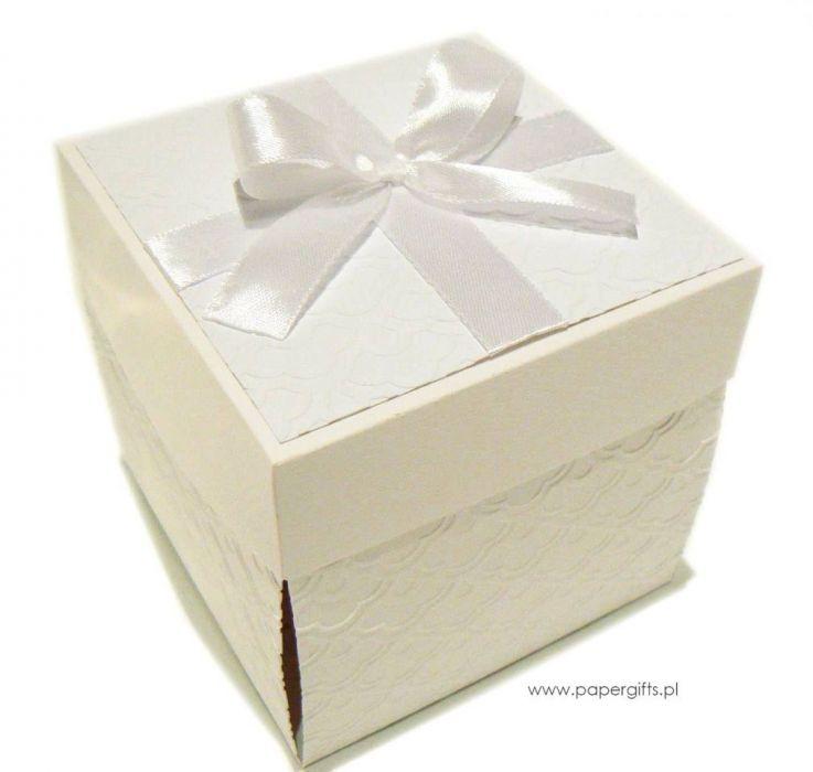 Exploding box biały kartka pamiątka chrztu - Expoding box biały na chrzest
