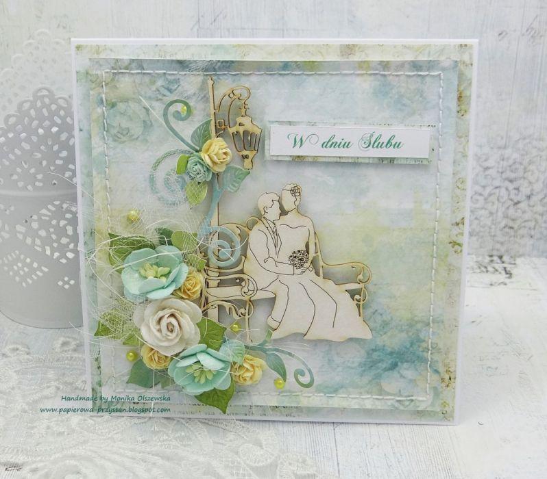 Romantyczny ślub - kartka z życzeniami