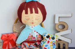 Lalka Ofelia ( 42 cm ) ubranka+brelok sówka