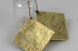 Kwadraty - mosiężne kolczyki 191117-02