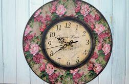 Zegar Ścienny Retro Country Róże