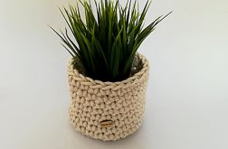 Koszyk 14x13cm sznurek bawełniany beżowy