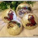 Bombka Merry Christmas Mikołaj