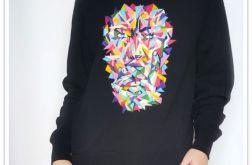 Ręcznie malowana bluza abstrakcja portret