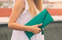 Torebka kopertówka soutache szmaragdowa zielo