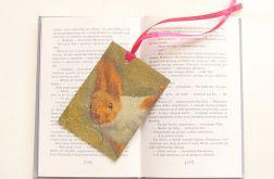 Retro zakładka do książki z wiewiórką n8