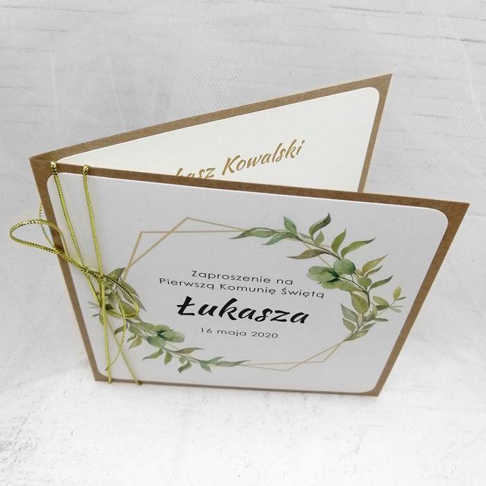 Zaproszenie na komunię dla chłopca eko rustykalne ZKS 011 - Zaproszenie na komunię dla chłopca eko rustykalne (4)