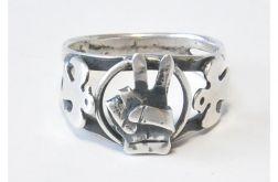 61 srebrny pierścionek vintage