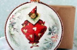 Bombka vintage Arlekin na Boże Narodzenie