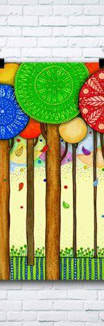 Kolorowe drzewa A3