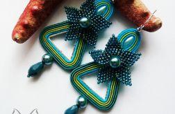 Liria- kolczyki sutasz i haft koralikowy