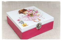 Pudełko decoupage, ~Dziewczynka z kwiatami~