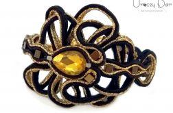 Gold star, elegancka bransoletka z hematytem