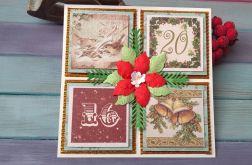 Kartka świąteczna z dzwonkami