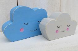 Chmurki malowane z niebieskim
