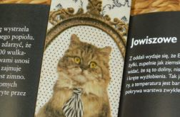 Zakładka z drewna, Kot elegant w krawacie